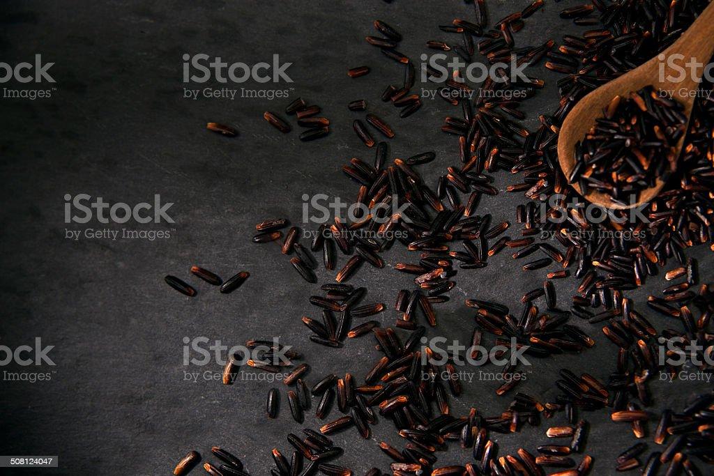 Black Rice stock photo