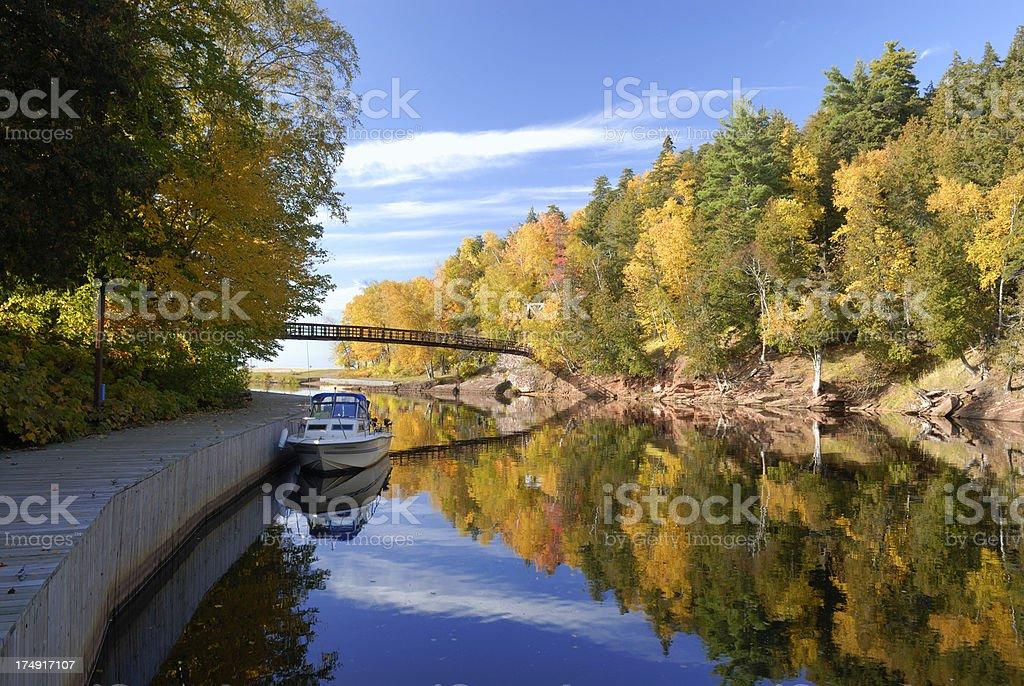 Black River harbor, Ottawa national forest royalty-free stock photo