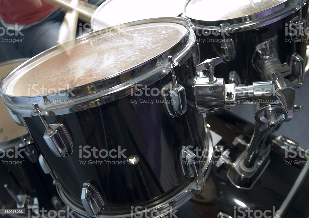 Black rock drums stock photo