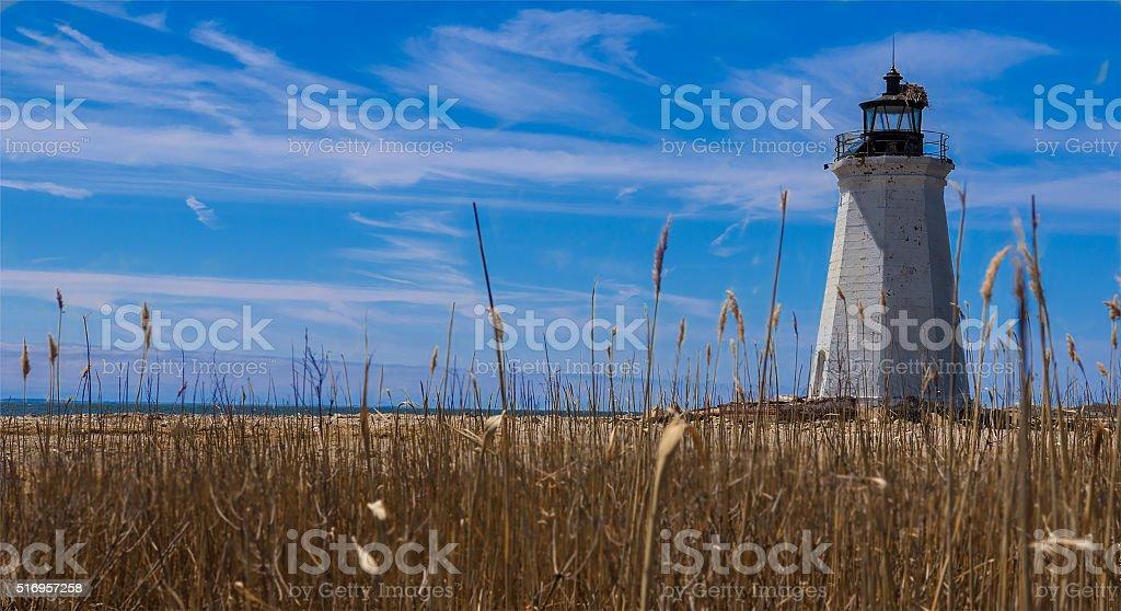 Black Rock Harbor Light - Bridgeport, CT stock photo