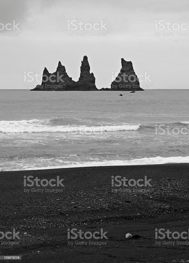 Black Rocks Of Vik royalty-free stock photo