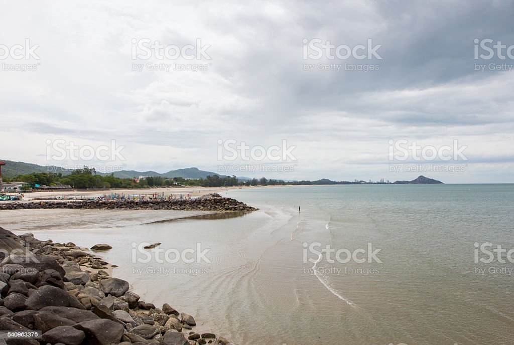 black rocks stones with sea snail shell in coastline Стоковые фото Стоковая фотография
