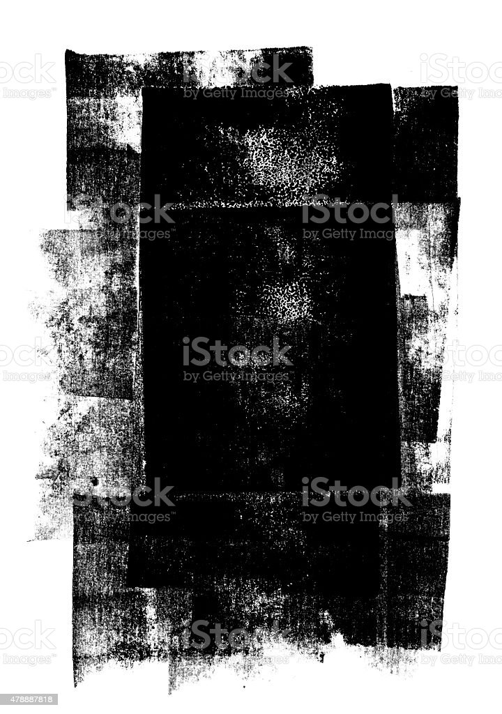 Black rolled ink texture stock photo