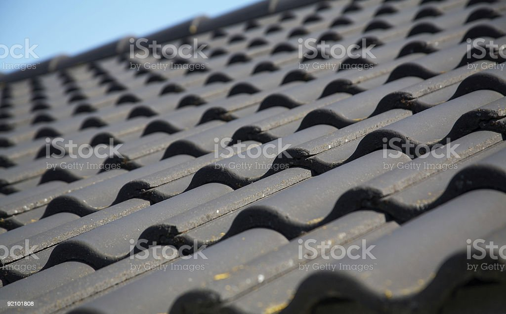 Black roof royalty-free stock photo