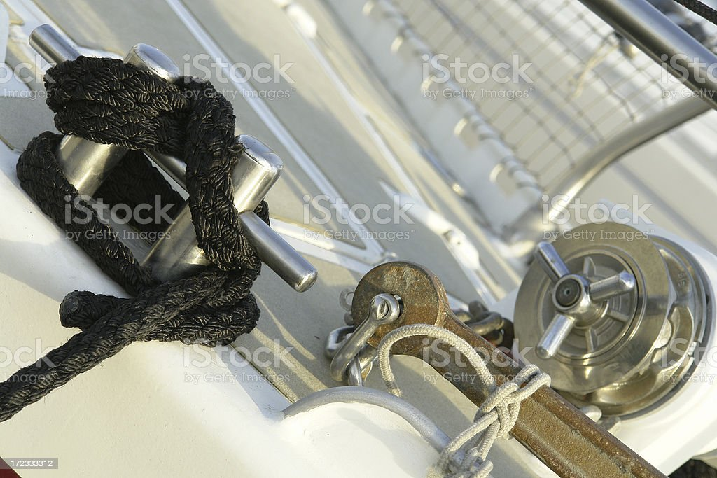 Black Rope & Cleat royalty-free stock photo
