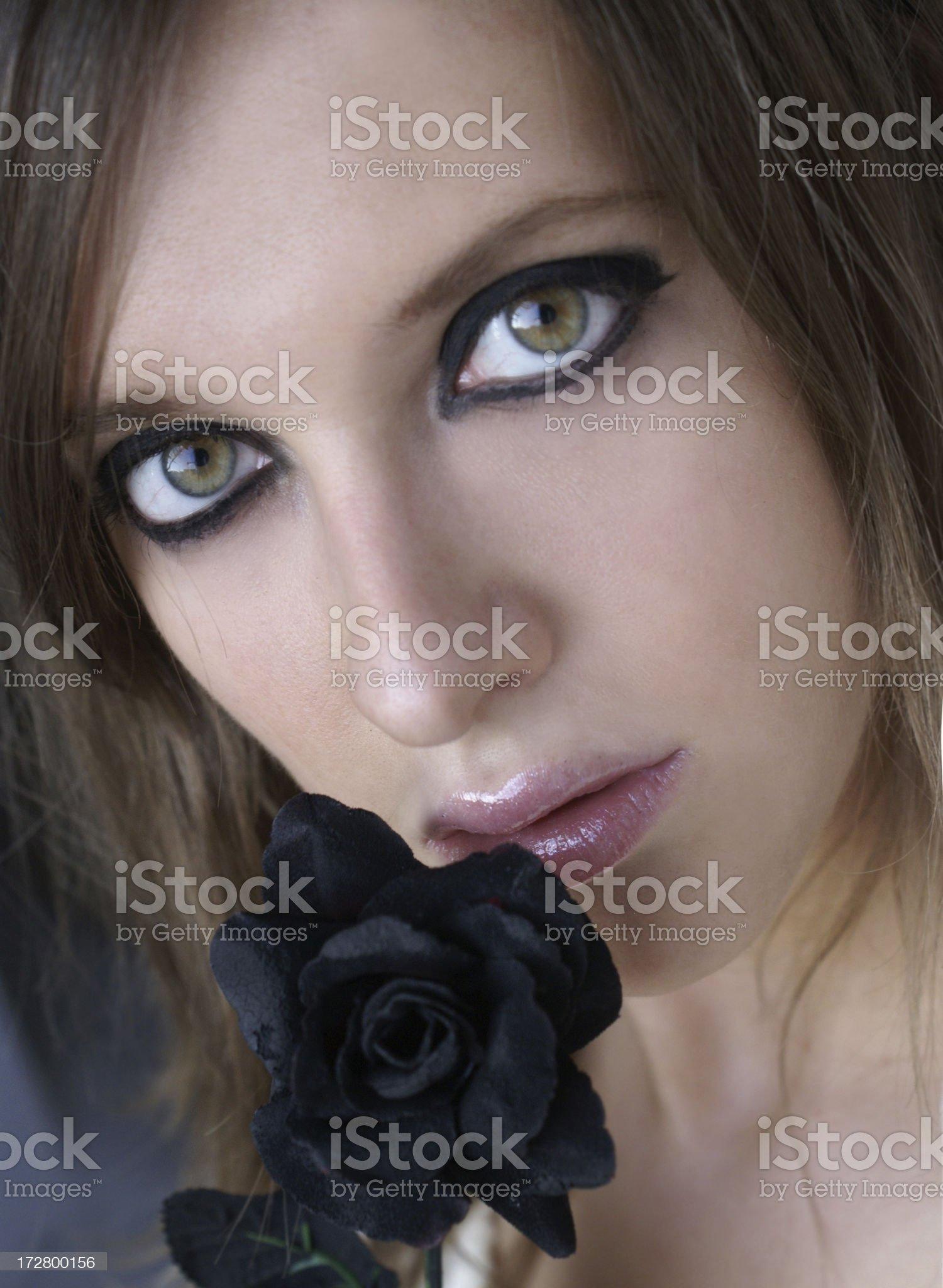 Black Rose royalty-free stock photo