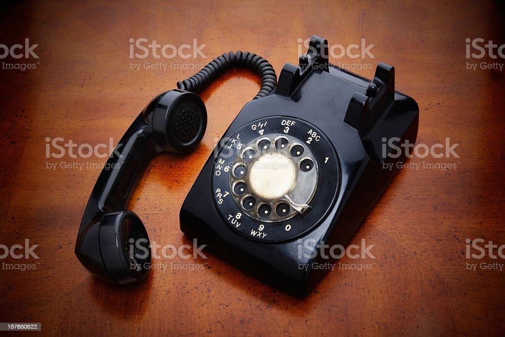 Black Rotary Phone stock photo