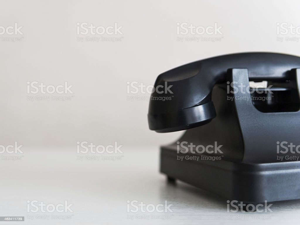 black rotary phone royalty-free stock photo