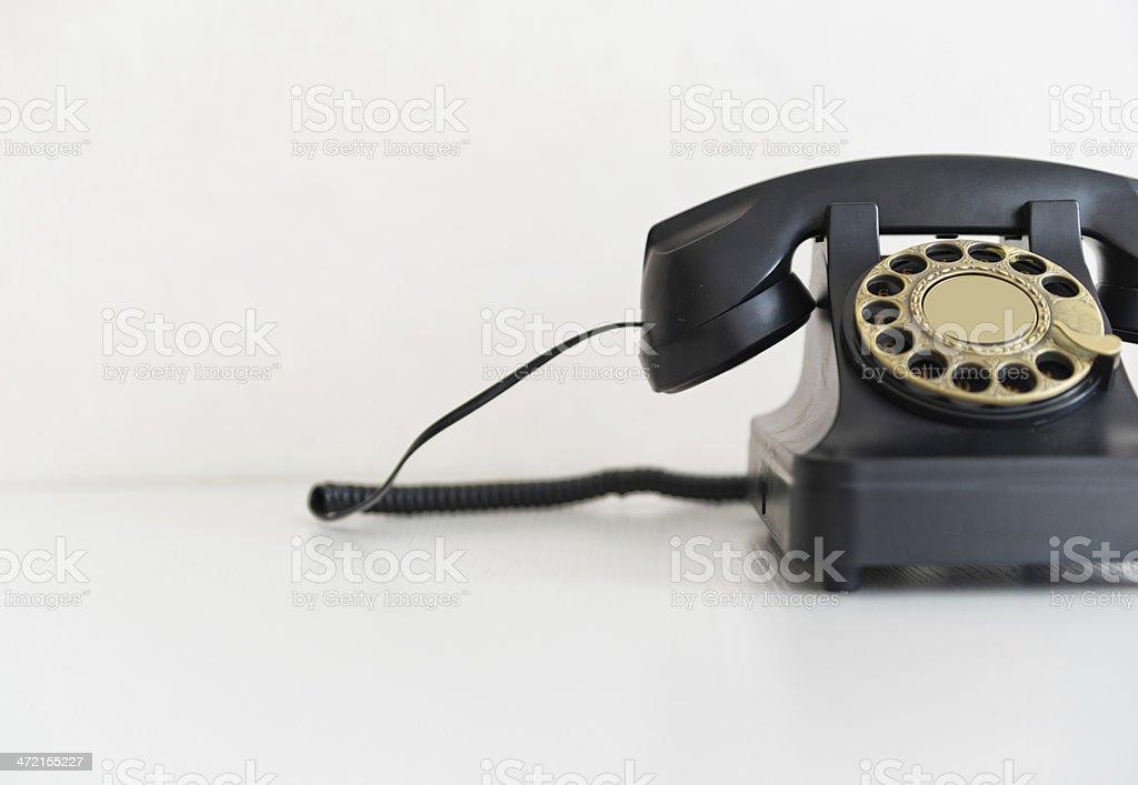 black rotary phone royalty-free stock photo