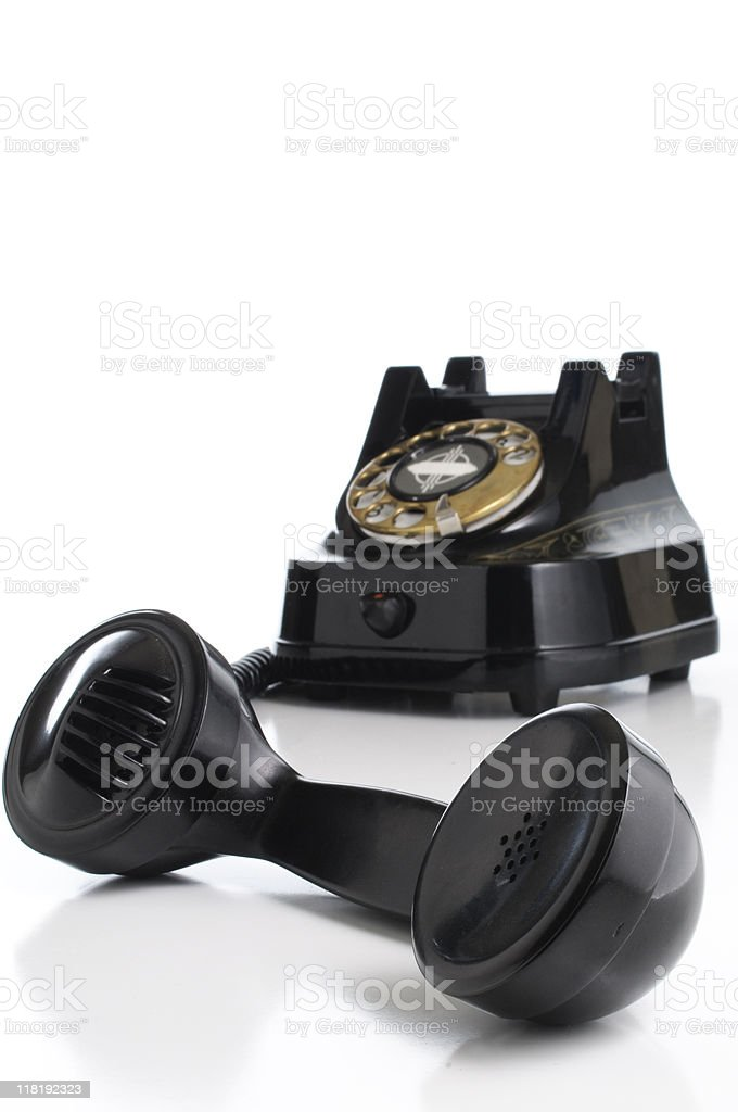 Black Rotary Telephone royalty-free stock photo