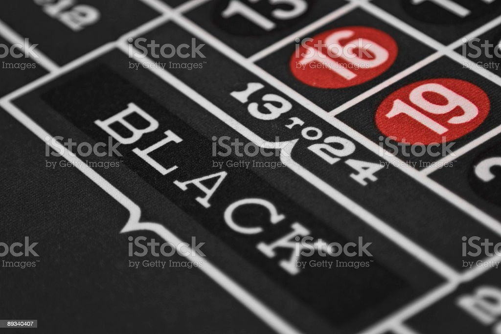 Black roulette field royalty-free stock photo