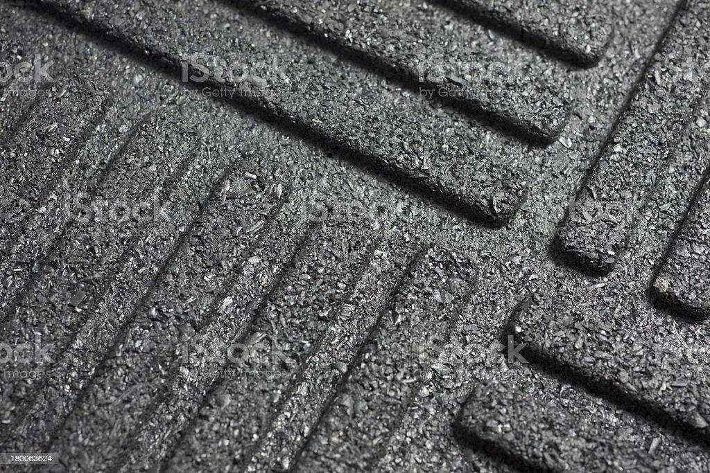 Black rubber mat royalty-free stock photo