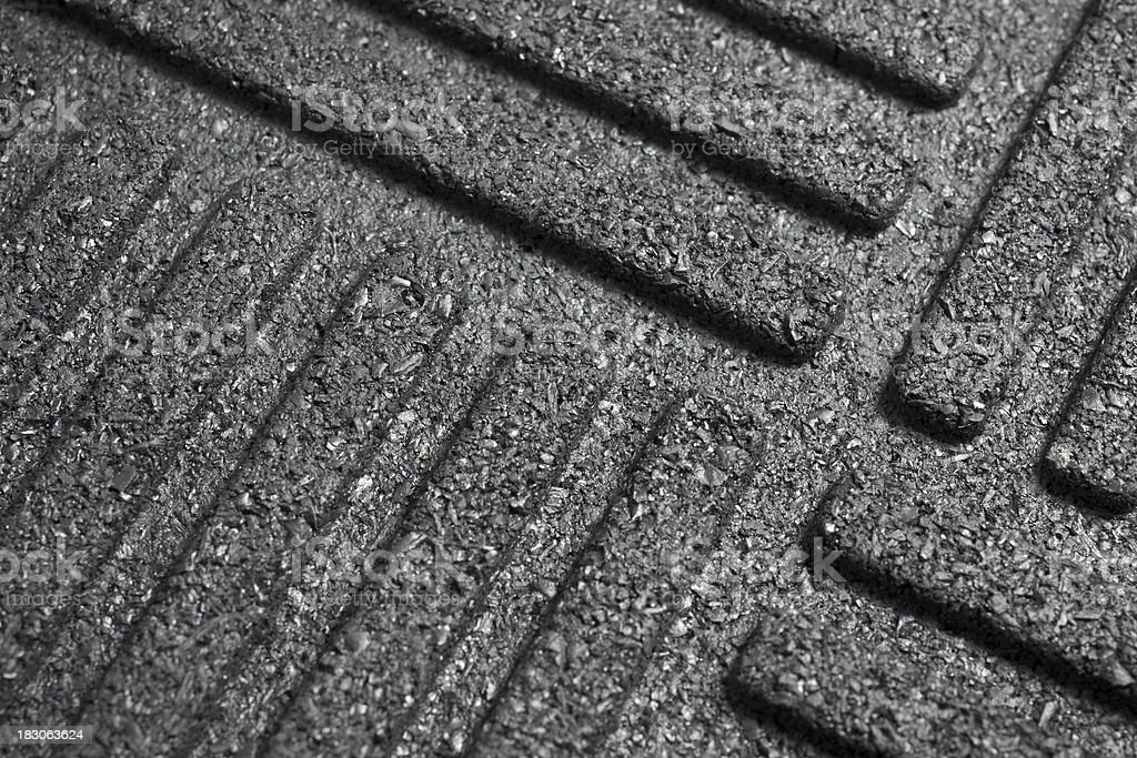 Black rubber mat stock photo