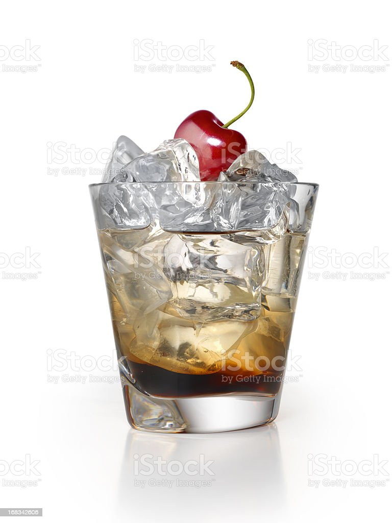 Black Russian Cocktail stock photo