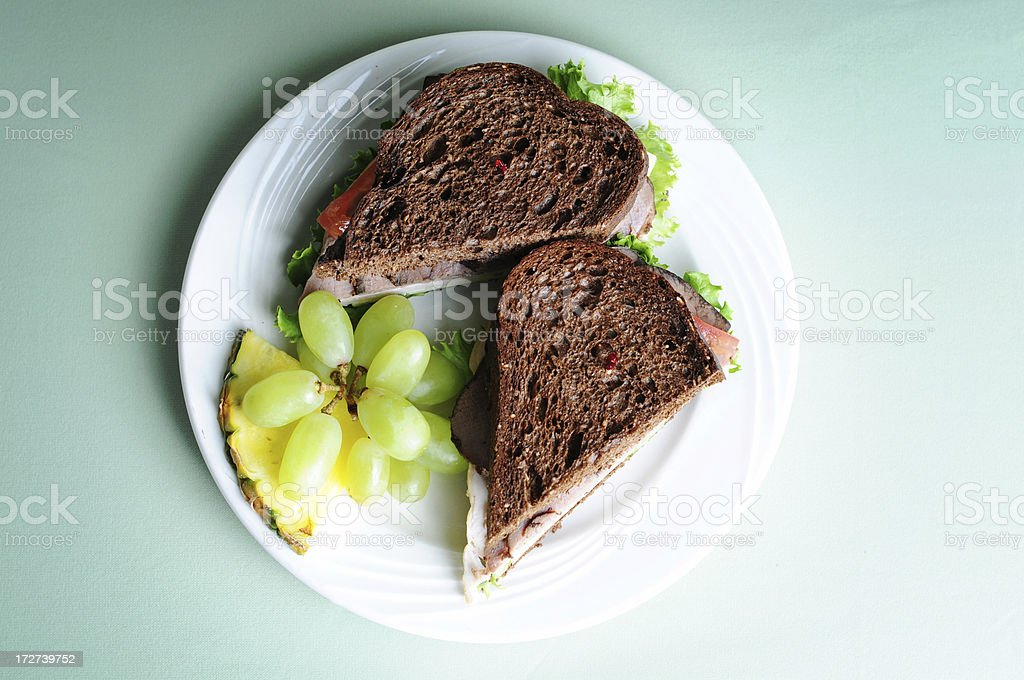 Black Russian Sandwich royalty-free stock photo