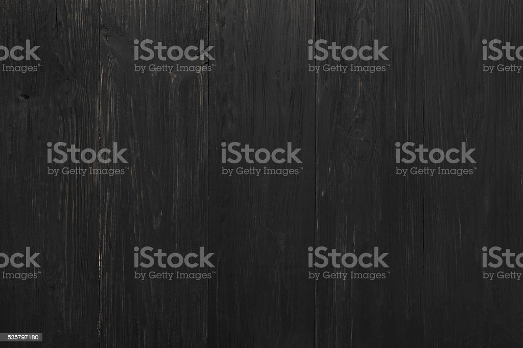 Black rustic wood texture and background. stock photo