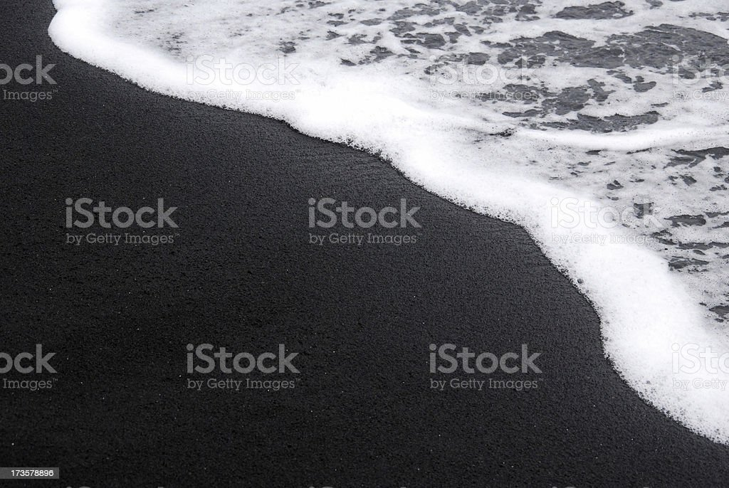Black Sand Beach royalty-free stock photo