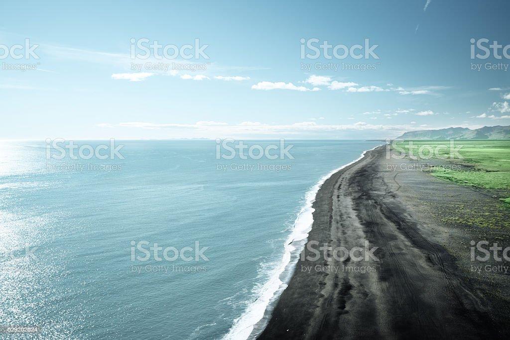 Black Sand Beach, Vik, Iceland stock photo