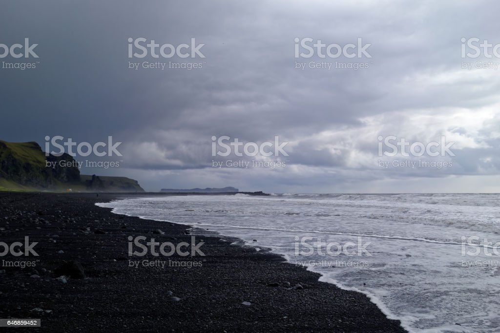 Black sand beach, Vik, Iceland stock photo