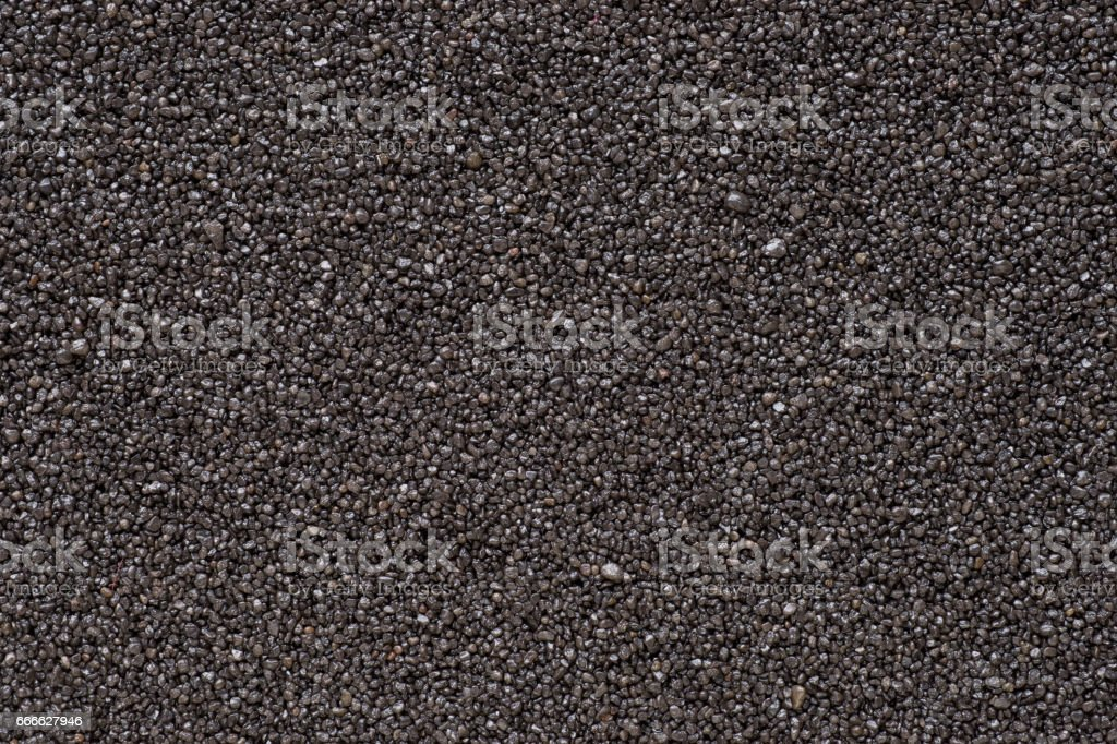 Black sand extremal close up stock photo