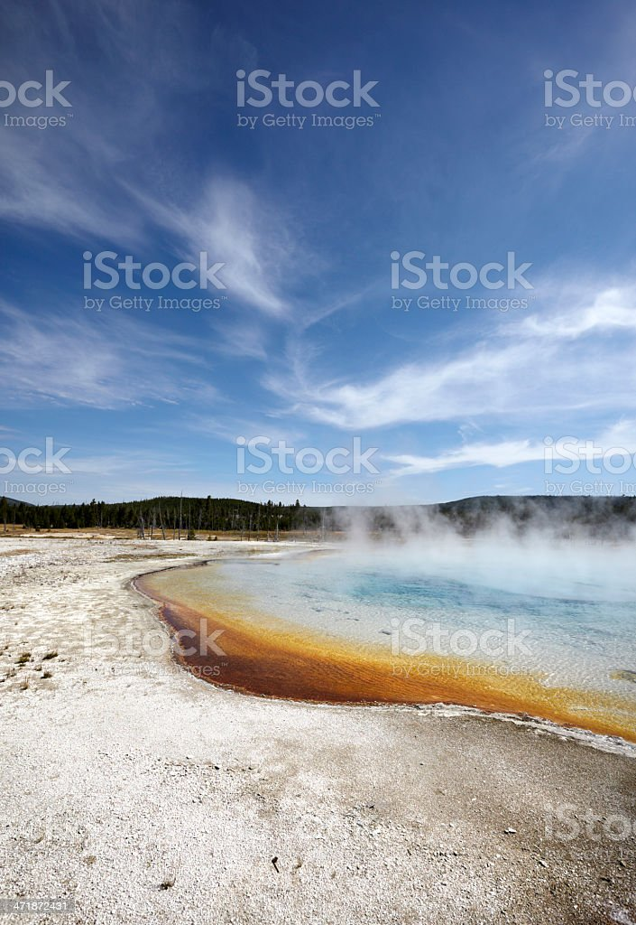 Black Sand Geyser Basin, Yellowstone National Park royalty-free stock photo