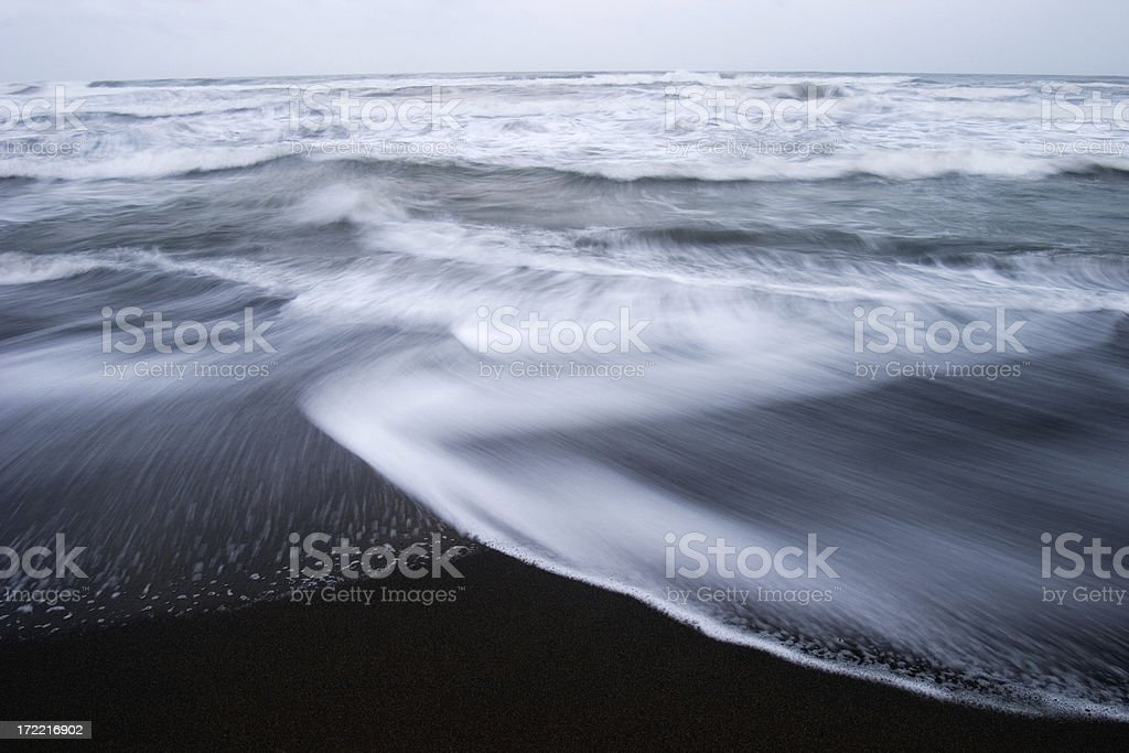 Black Sand Surf royalty-free stock photo
