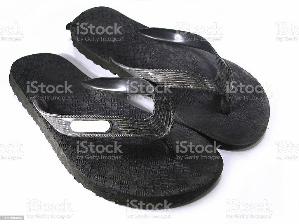 Black Sandals stock photo