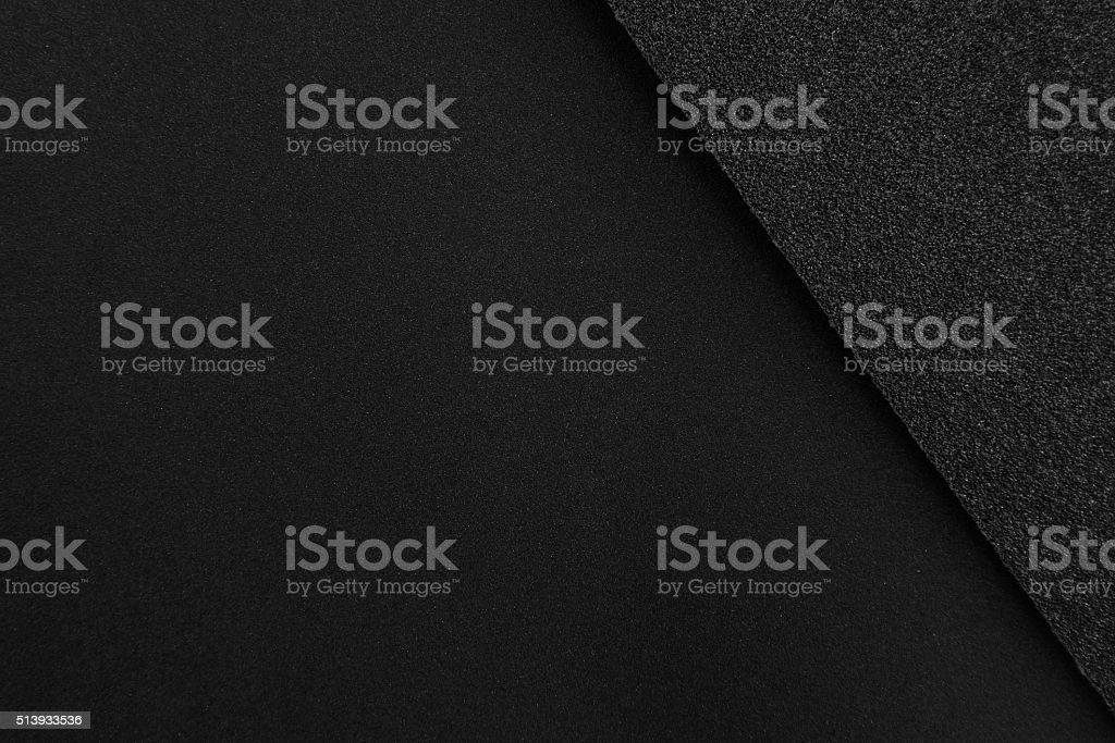 Black sandpaper texture stock photo