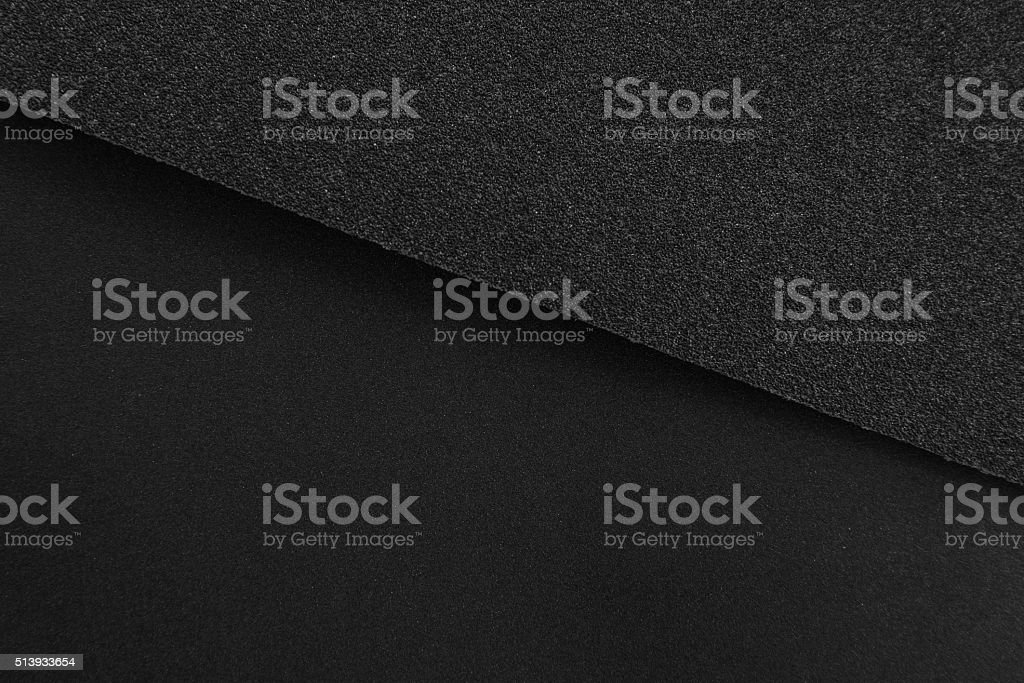 Black sandpaper texture stock photo