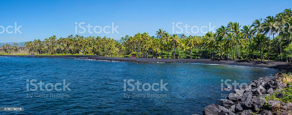 Black Sands Beach stock photo