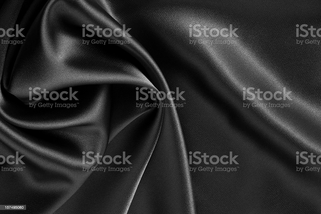 black satin or silk background stock photo
