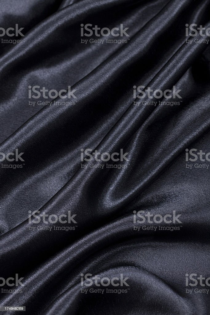 Black satin royalty-free stock photo