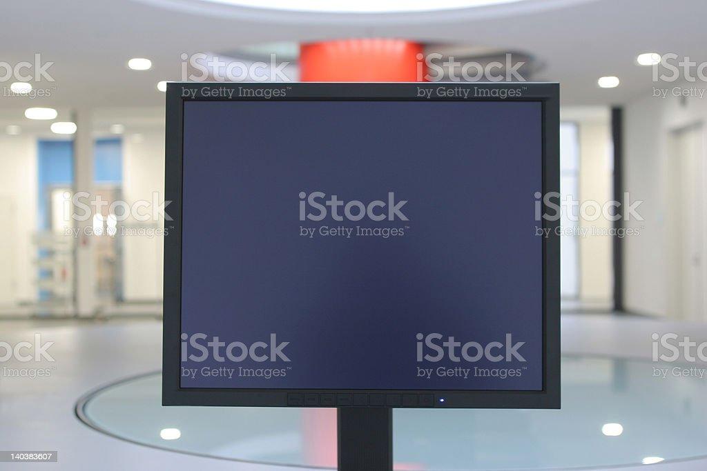Black screen stock photo