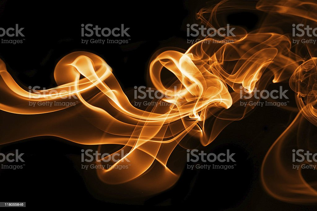 A black screen with orange smoke royalty-free stock photo