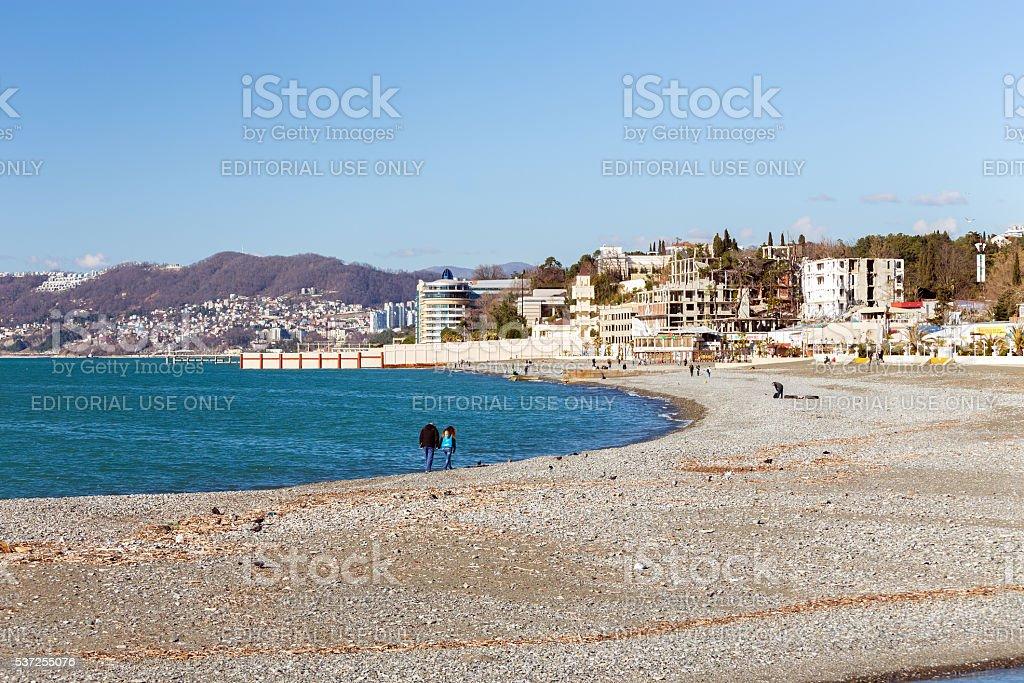 Black Sea Coast. Sochi. Russia stock photo
