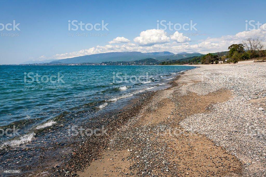 black sea in Abkhazia stock photo