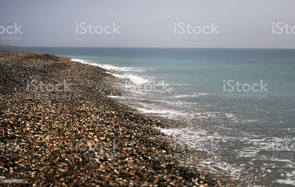 Black sea pebble stock photo