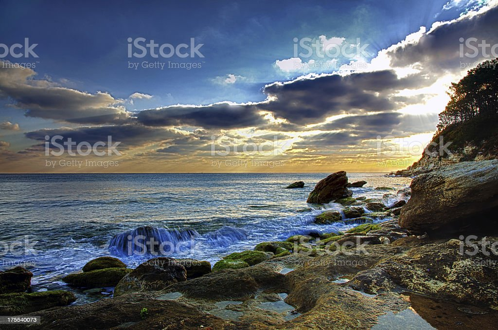 black sea stock photo