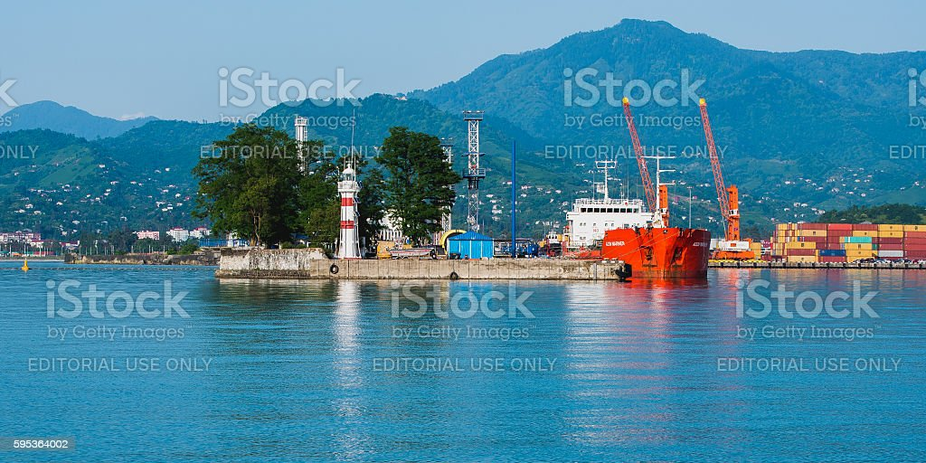 Black Sea scenery stock photo