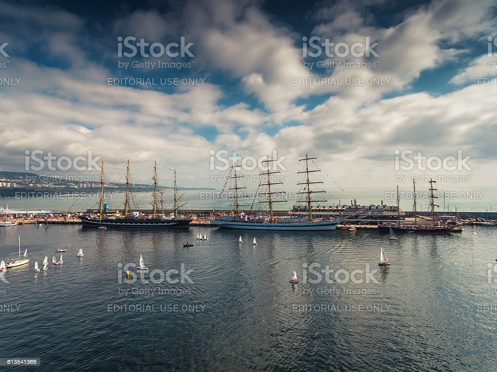 Varna, Bulgaria - October 2, 2016:Black Sea Tall Ships Regatta stock photo