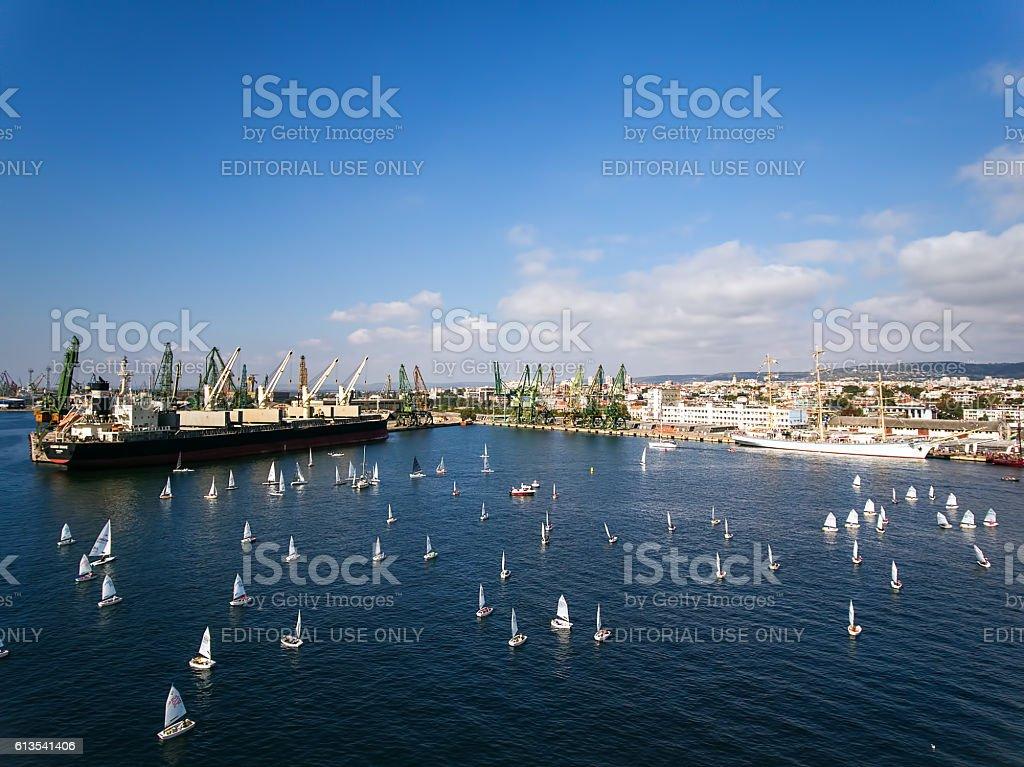 Varna, Bulgaria - October 2, 2016:Black Sea Tall Ships Regatta stock photo
