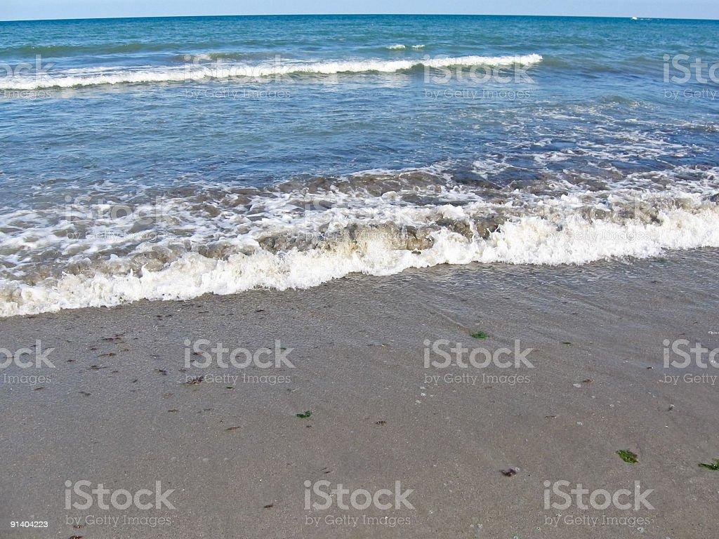 Black sea waves royalty-free stock photo