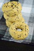 Black sesame bagels