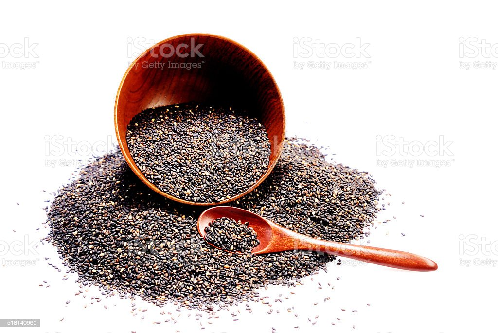 Black sesame stock photo