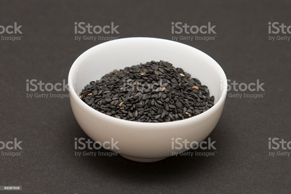 black sesame seeds royalty-free stock photo
