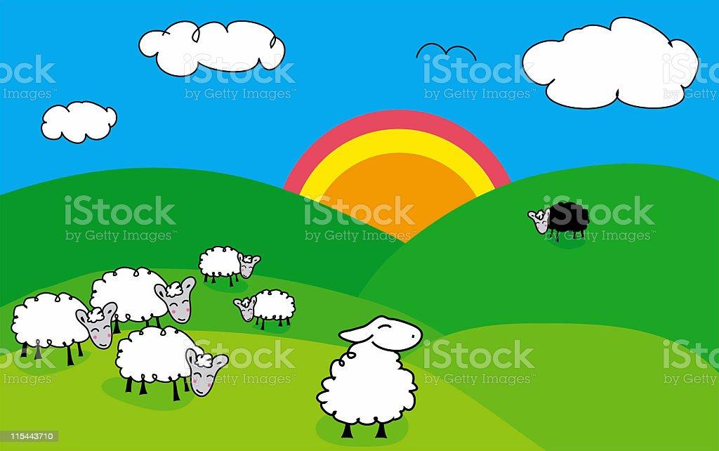 Black Sheep of the Family - Raster stock photo