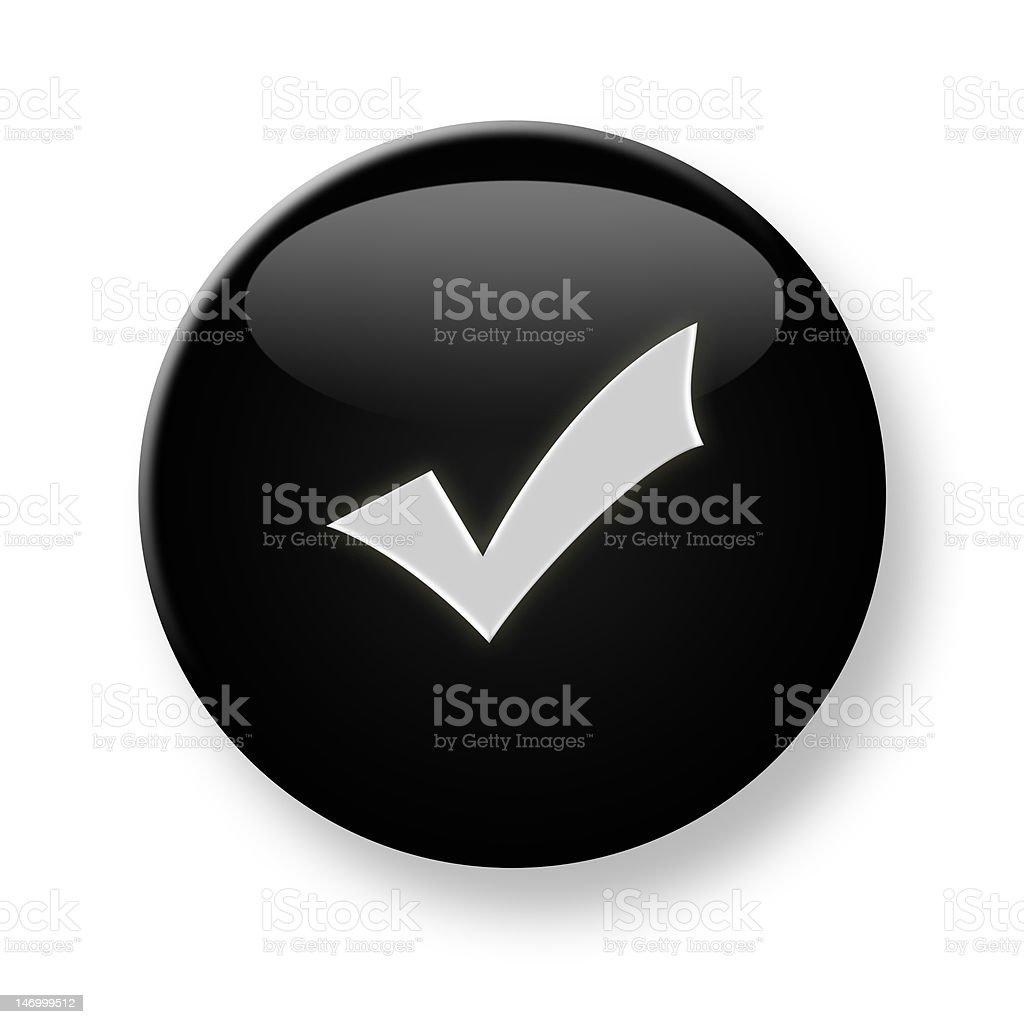 Black shiny oval button stock photo