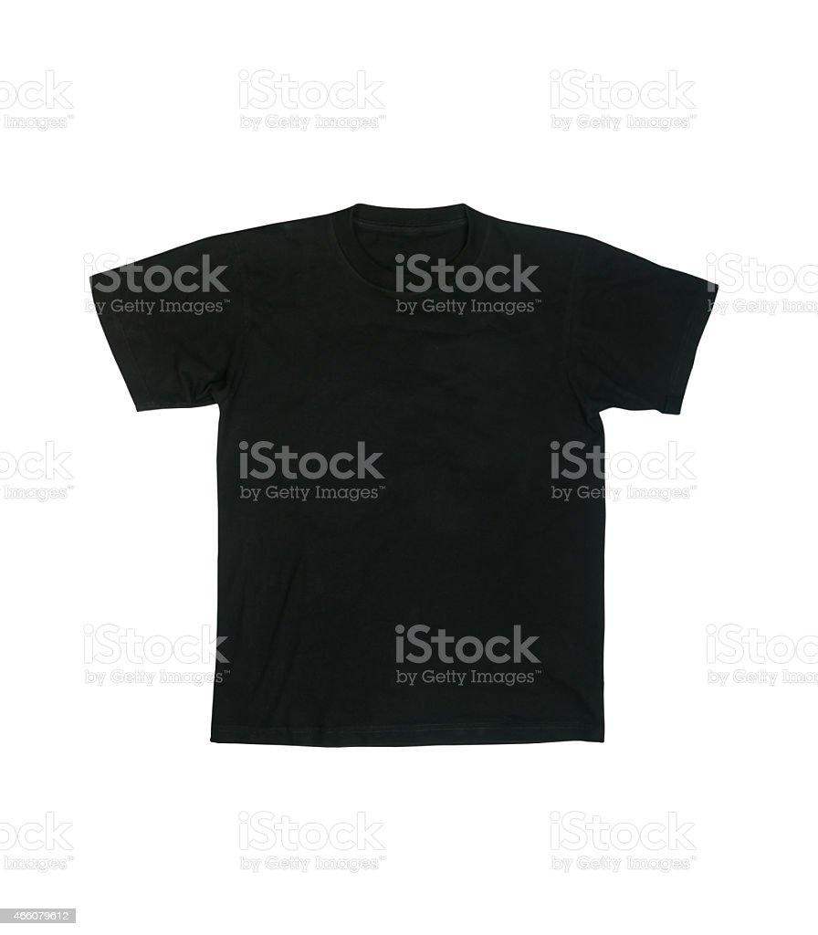 Black shirt on white background. stock photo