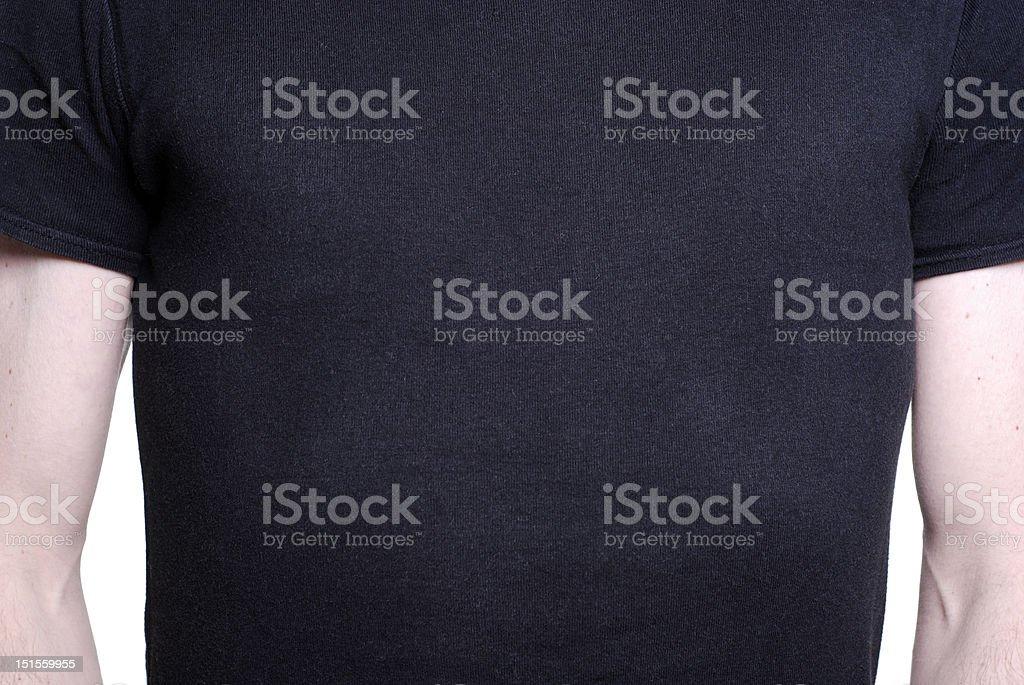 Black shirted torso royalty-free stock photo