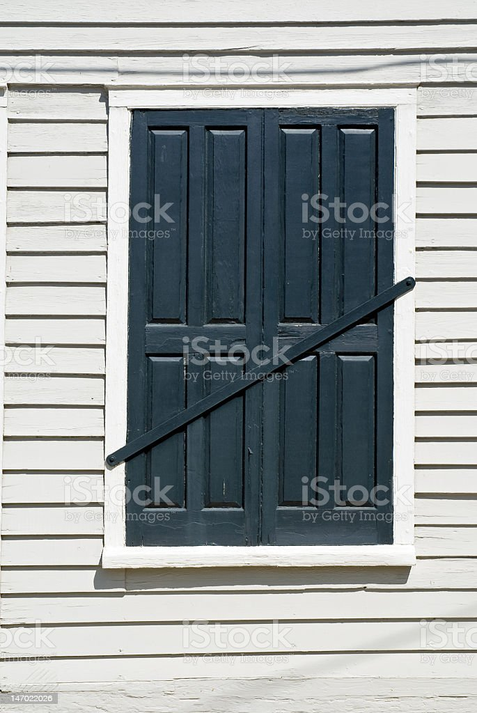 Black Shutters No Entry royalty-free stock photo